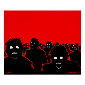 """""""The Horde"""" Zombie Poster"""