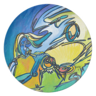 The Horn - Music Themed Series Dinner Plate