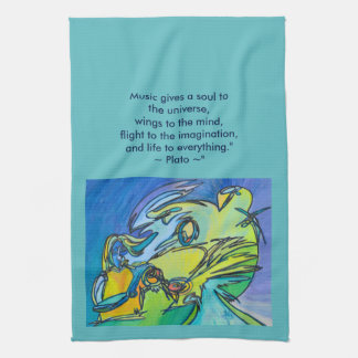 The Horn - Music Themed Series Hand Towel