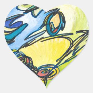 The Horn - Music Themed Series Heart Sticker