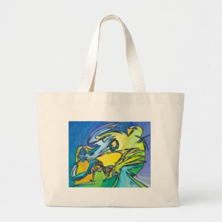 The Horn - Music Themed Series Large Tote Bag