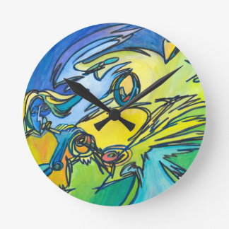 The Horn - Music Themed Series Round Clock