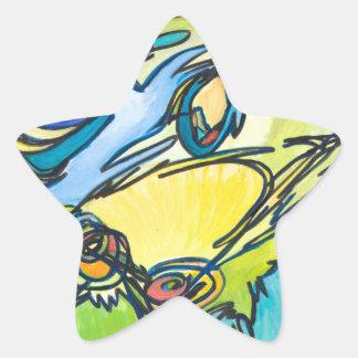 The Horn - Music Themed Series Star Sticker