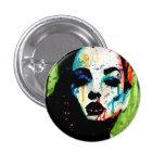 The Horrible Secret Pop Art Portrait Pinback Button