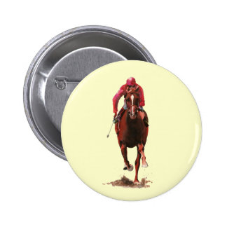The Horse and Jockey 2 Inch Round Button