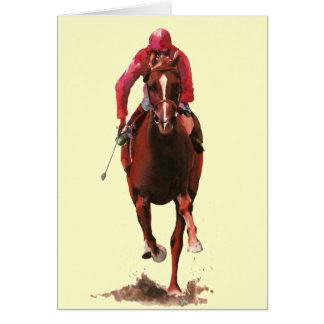 The Horse and Jockey Greeting Card