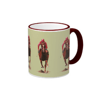 The Horse and Jockey Ringer Coffee Mug
