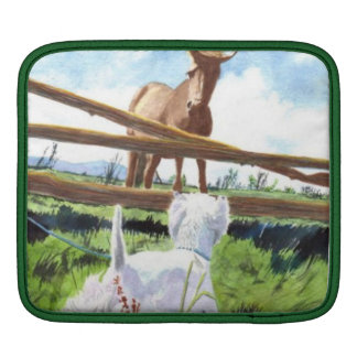 The Horse and the Terrier iPad Sleeves