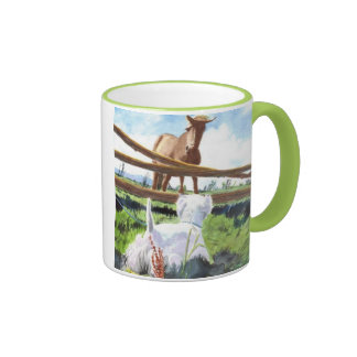 The Horse and the Terrier Ringer Coffee Mug