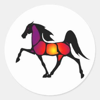 THE HORSE EVE CLASSIC ROUND STICKER