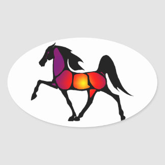 THE HORSE EVE OVAL STICKER