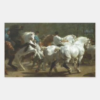 The Horse Fair by Rosa Bonheur Rectangular Sticker