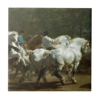 The Horse Fair by Rosa Bonheur Small Square Tile