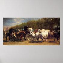 THE HORSE FAIR MARIE-ROSALIE BONHEUR art Poster