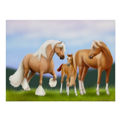 The Horse Family Print
