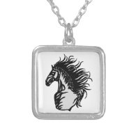 THE HORSE FOG PERSONALIZED NECKLACE