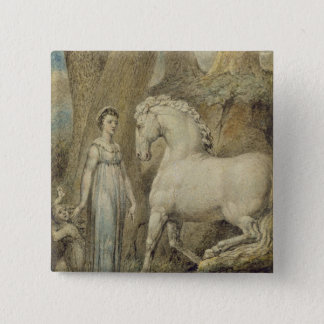 The Horse, from 'William Hayley's Ballads', c.1805 Pinback Button