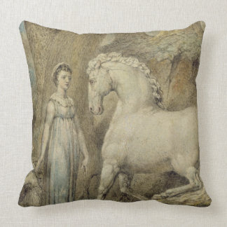 The Horse, from 'William Hayley's Ballads', c.1805 Throw Pillow
