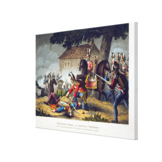 The Horse Guards at the Battle of Waterloo, engrav Canvas Prints