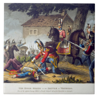 The Horse Guards at the Battle of Waterloo, engrav Ceramic Tile
