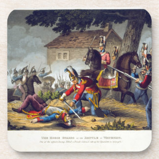 The Horse Guards at the Battle of Waterloo, engrav Drink Coaster