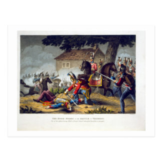 The Horse Guards at the Battle of Waterloo, engrav Postcard