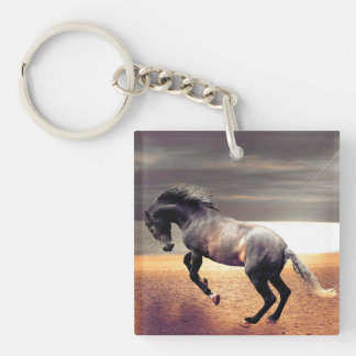 The Horse Double-Sided Square Acrylic Keychain