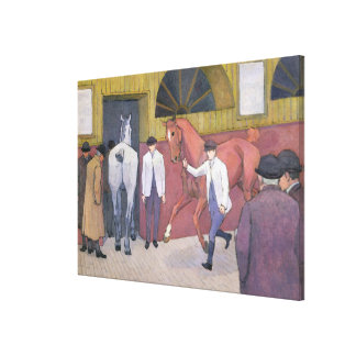 The Horse Mart (oil on canvas) Canvas Print