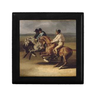 The Horse Race by Theodore Gericault Keepsake Box