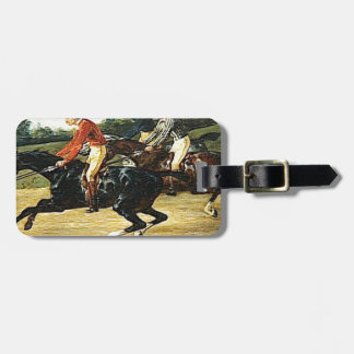 The Horse Race by Theodore Gericault Tag For Luggage