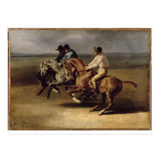 The Horse Race by Theodore Gericault Postcard