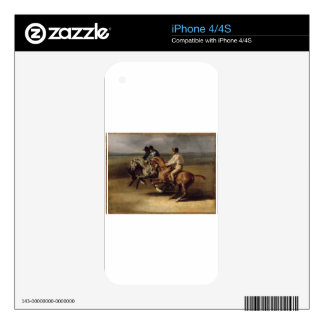 The Horse Race by Theodore Gericault Skin For The iPhone 4S