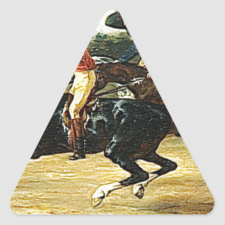 The Horse Race by Theodore Gericault Triangle Sticker