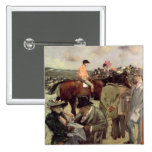 The Horse-Race, c.1890 2 Inch Square Button
