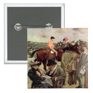 The Horse-Race, c.1890 Pinback Button