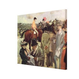 The Horse-Race, c.1890 Canvas Print