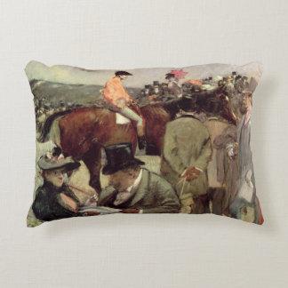 The Horse-Race, c.1890 Decorative Pillow