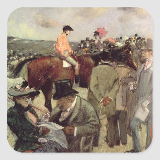The Horse-Race, c.1890 Square Sticker