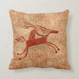 The Horse Rider Throw Pillow