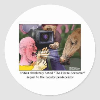 The Horse Screamer Funny Tees Gifts Cards More Classic Round Sticker