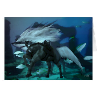 The Horse Shark 2 Greeting Card