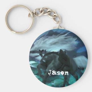 The Horse Shark 2 Basic Round Button Keychain