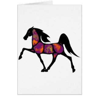 THE HORSE SUNSET CARD