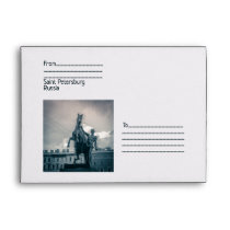 """The Horse Tamers"", St.Petersburg, Russia. Envelope"