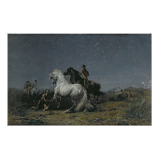 The Horse Thieves, 19th century Poster