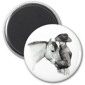 THE HORSE TRAINER #2, in Pencil 2 Inch Round Magnet