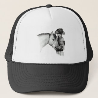 THE HORSE TRAINER #2, in Pencil Trucker Hat