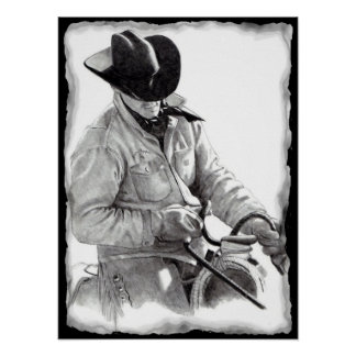THE HORSE TRAINER in Pencil, Poster