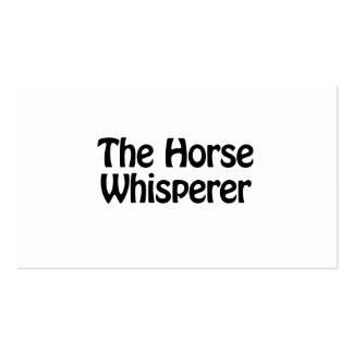 the horse whisperer Double-Sided standard business cards (Pack of 100)