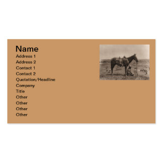 The Horse Wrangler 1910 Double-Sided Standard Business Cards (Pack Of 100)